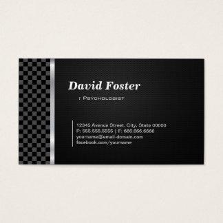 Psychologe-berufliches Schwarz-weißes Visitenkarte
