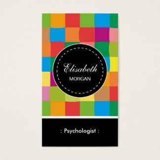 Psychologe-buntes quadratisches Muster Visitenkarte