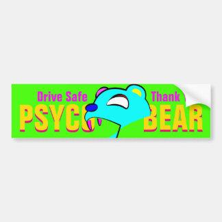 psycobear autoaufkleber