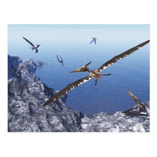 Pteranodon Vögel - 3D übertragen Postkarten
