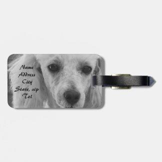Pudel-HundeGepäckanhänger Koffer Anhänger