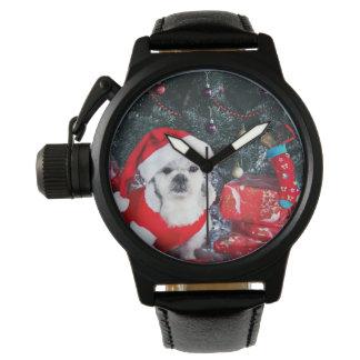 Pudel Sankt - Weihnachtshund - Weihnachtsmann-Hund Armbanduhr