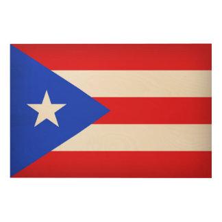 Puerto- Ricoflagge Holzwanddeko