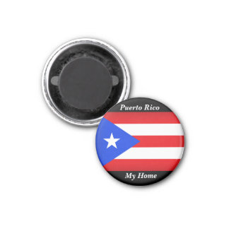 Puerto- Ricoflagge Runder Magnet 3,2 Cm