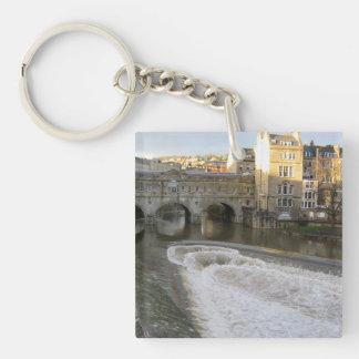 Pultney Brücken-Bad keychain Einseitiger Quadratischer Acryl Schlüsselanhänger