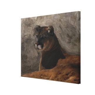 Puma-Berglöwe-große Katzen-Malerei Leinwanddruck