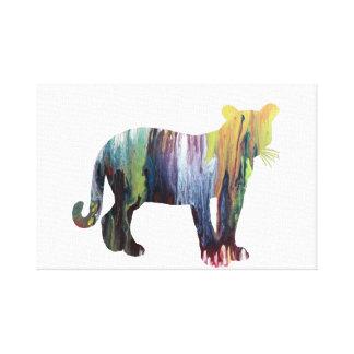 Puma-/Pumakunst Leinwanddruck