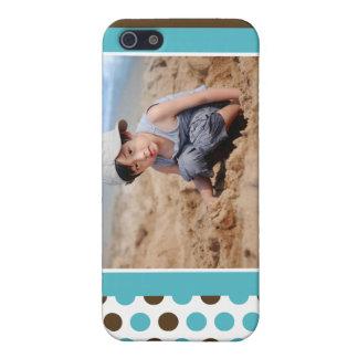 Punkt-Foto-Gewohnheit (Aqua) iPhone 5 Schutzhülle
