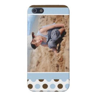 Punkt-Foto-Gewohnheit (blau) iPhone 5 Schutzhüllen