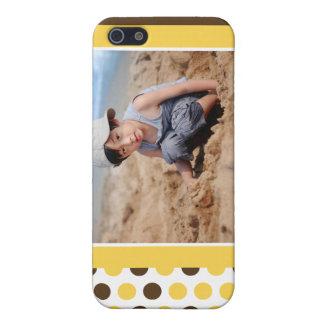 Punkt-Foto-Gewohnheit (Gelb) iPhone 5 Schutzhülle