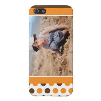 Punkt-Foto-Gewohnheit (orange) Hülle Fürs iPhone 5
