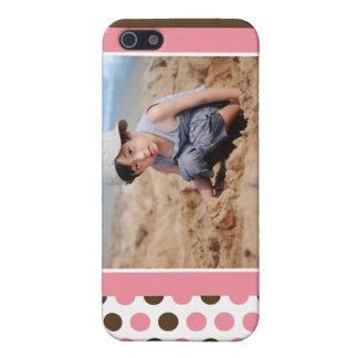 Punkt-Foto-Gewohnheit (Rosa) Etui Fürs iPhone 5