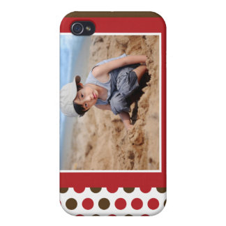 Punkt-Foto-Gewohnheit (rot) Schutzhülle Fürs iPhone 4