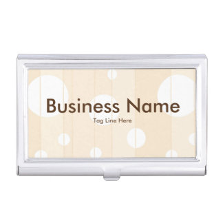 Punkte und Streifen in der Vanille Visitenkarten-Behälter