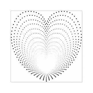 Punktierte Herz-Echos Gummistempel