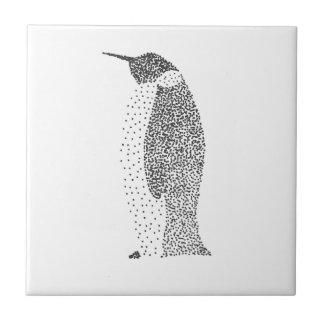 Punktierter Pinguin Kleine Quadratische Fliese