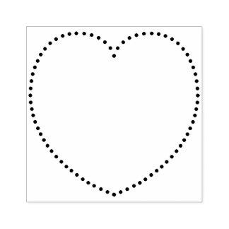 Punktiertes Herz Gummistempel