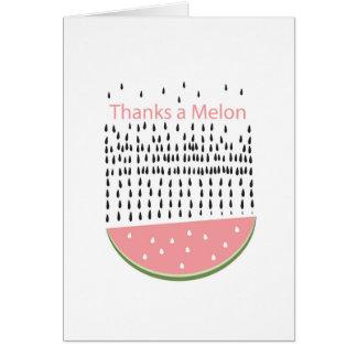 Punny Melone danken Ihnen Karte