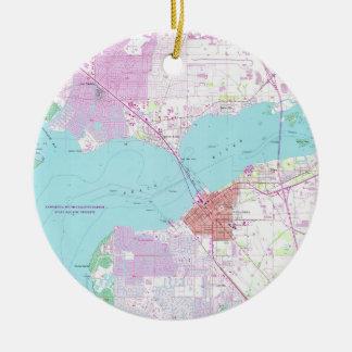 Punta Gorda u. Hafen Charlotte Florida Map (1957) Keramik Ornament