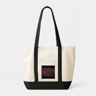 Purple Fantasia In Natural And Black Canvas Bags