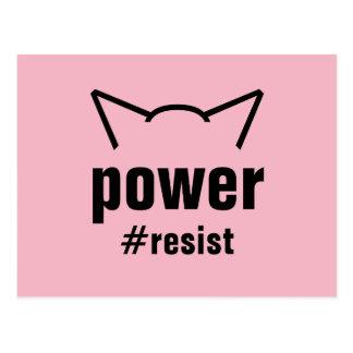 Pussy-Power-Katzen-Ohr-Rosa widersetzen sich Postkarte