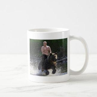 Putin reitet einen Bären! Tasse