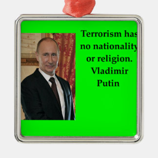 Putin-Zitat Silbernes Ornament