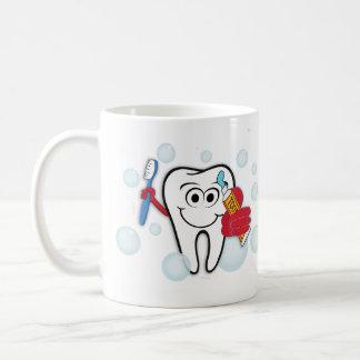 Putzen Sie Ihre Zähne Kaffeetasse
