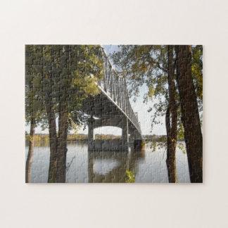 Puzzle Vorderansicht Peorias, Illinois, Fluss