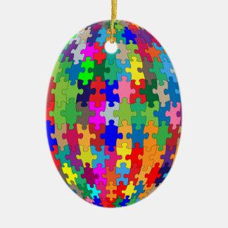 Puzzlespiel-Bereich Keramik Ornament