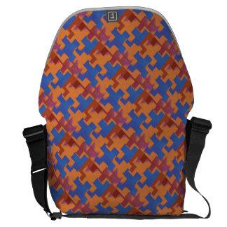 Puzzlespiel bessert blaue und orange Bote-Tasche Kuriertaschen