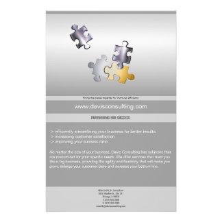 Puzzlespiel bessert Geschäfts-Flyer aus 14 X 21,6 Cm Flyer