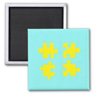 Puzzlespiel-Magnet Quadratischer Magnet