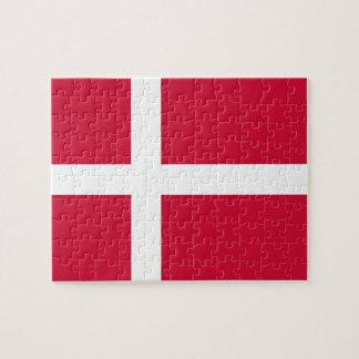 Puzzlespiel mit Flagge von Dänemark Puzzle