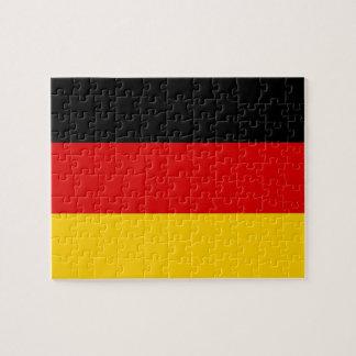 Puzzlespiel mit Flagge von Deutschland Puzzle