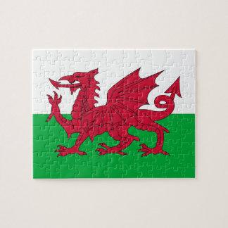 Puzzlespiel mit Flagge von Wales Puzzle
