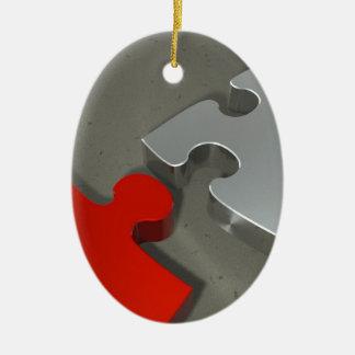 Puzzzzz Ovales Keramik Ornament