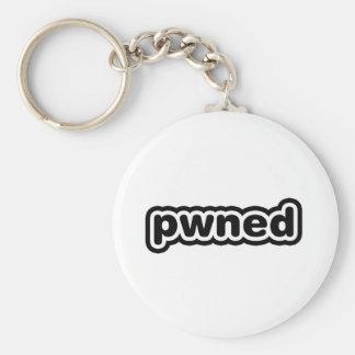 Pwned Standard Runder Schlüsselanhänger
