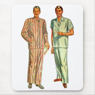 Pyjamas der Retro die Vintagen Kitsch-Männer Mousepads