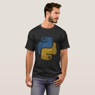 Pythonschlange-Logo Wordcloud für Programmierer T-Shirt