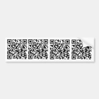 QR Autoaufkleber Code \ 1