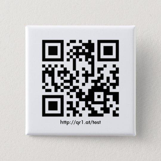 QR Code Anstecknadel quadratisch