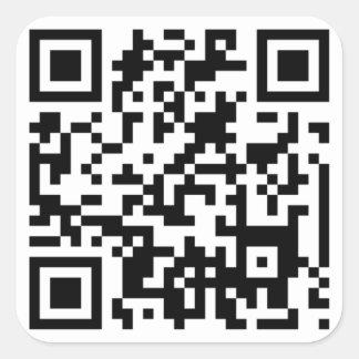 QR CODE Quadrat-Aufkleber