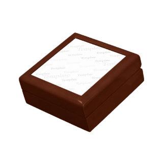 Quadratische Fliesen-Geschenkboxen-goldene Eiche Kleine Quadratische Schatulle