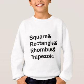 Quadratische Rechteck-Raute Trapezod   Vierecke Sweatshirt