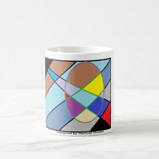 Quadratischer abstrakter Entwurf Tasse