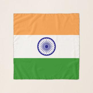 Quadratischer Schal mit Flagge von Indien