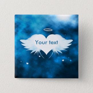"""Quadratisches Knopf-Button 2"""" - Engel des Herzens Quadratischer Button 5,1 Cm"""