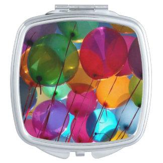 Quadratisches kompaktes Spiegel-Ballon-Bild Taschenspiegel