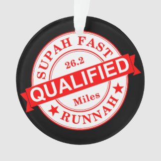 Qualifizierter super schneller Läufer Ornament